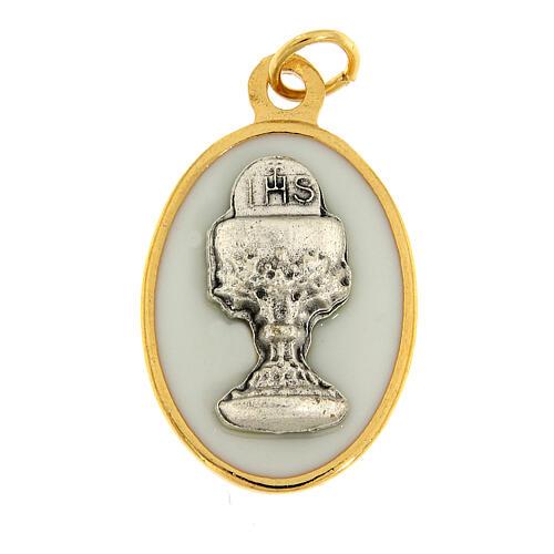 Médaille émaillée calice Communion 1