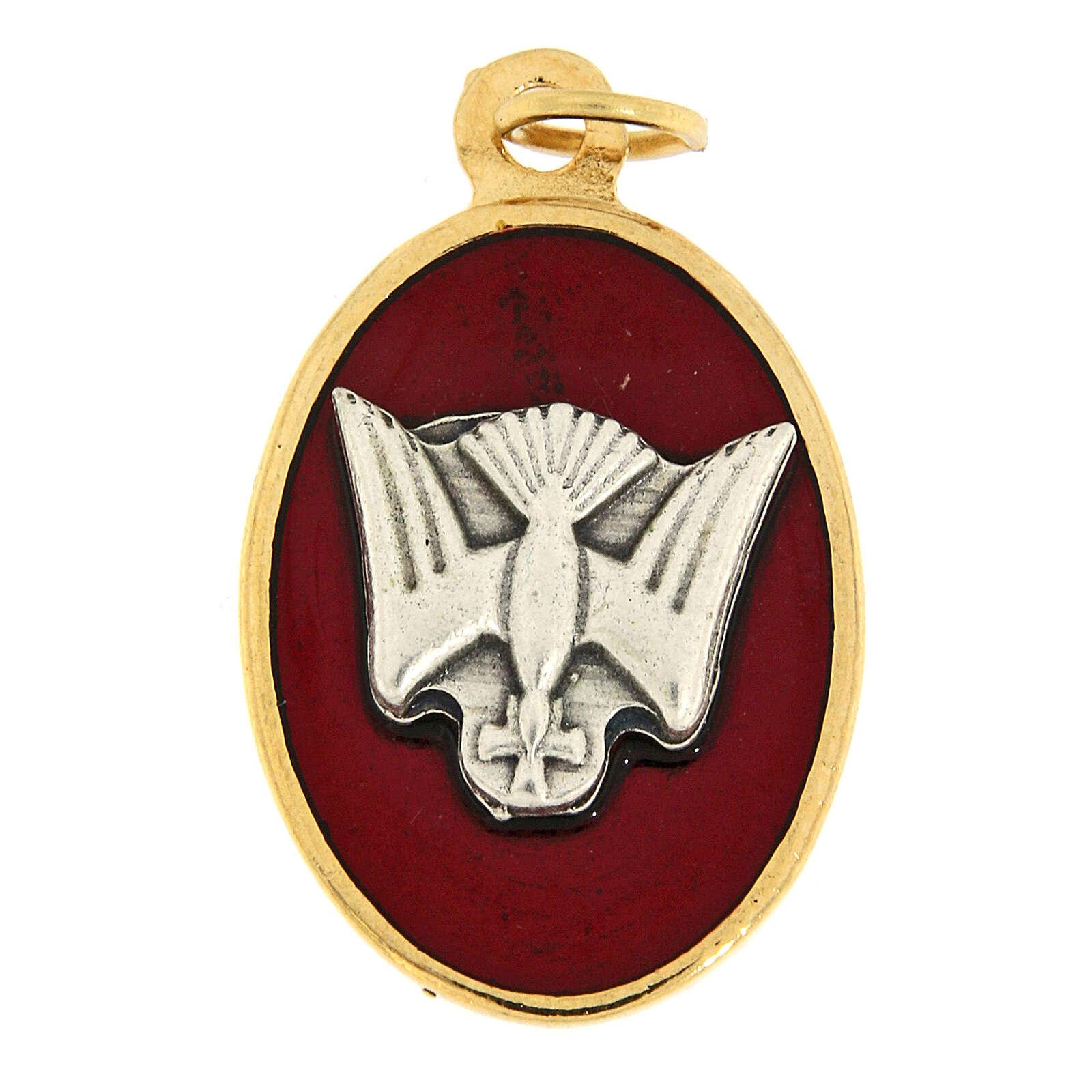 Médaille Confirmation émail rouge 3