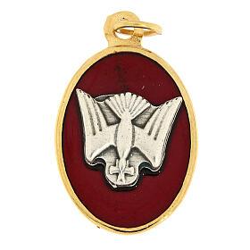 Médaille Confirmation émail rouge s1