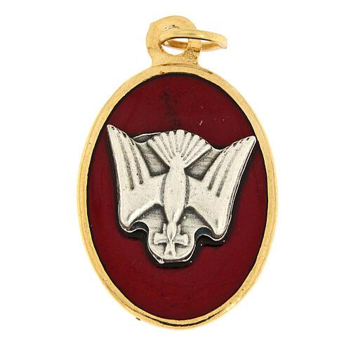 Médaille Confirmation émail rouge 1