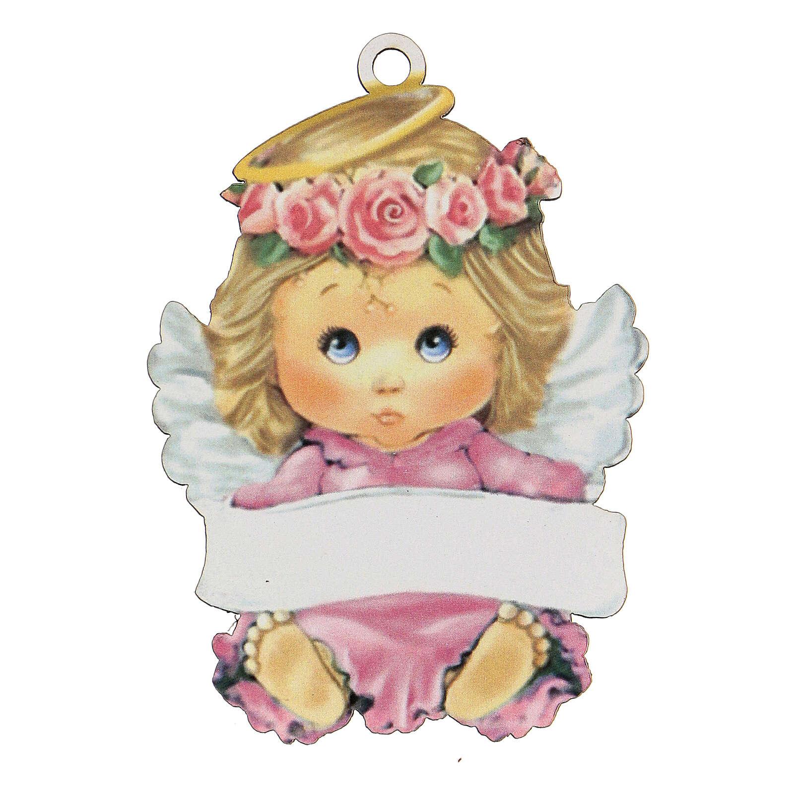 Ricordino bimba angelo 10 cm 3
