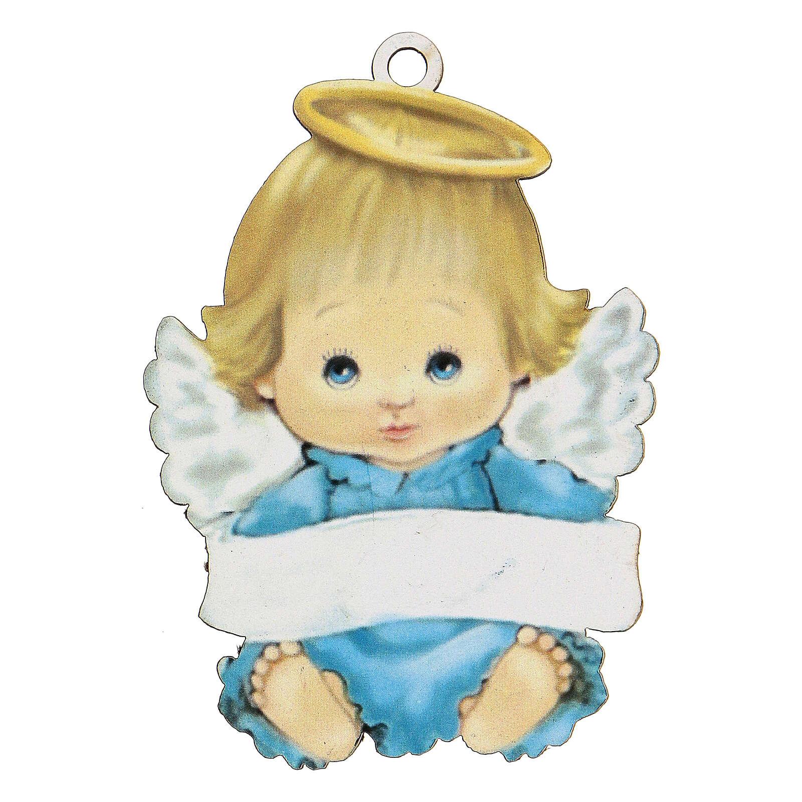 Ángel 10 cm azul niño 3
