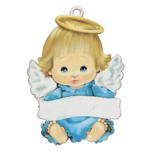 Ángel 10 cm azul niño 1