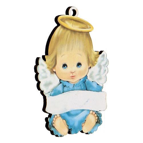 Ángel 10 cm azul niño 2