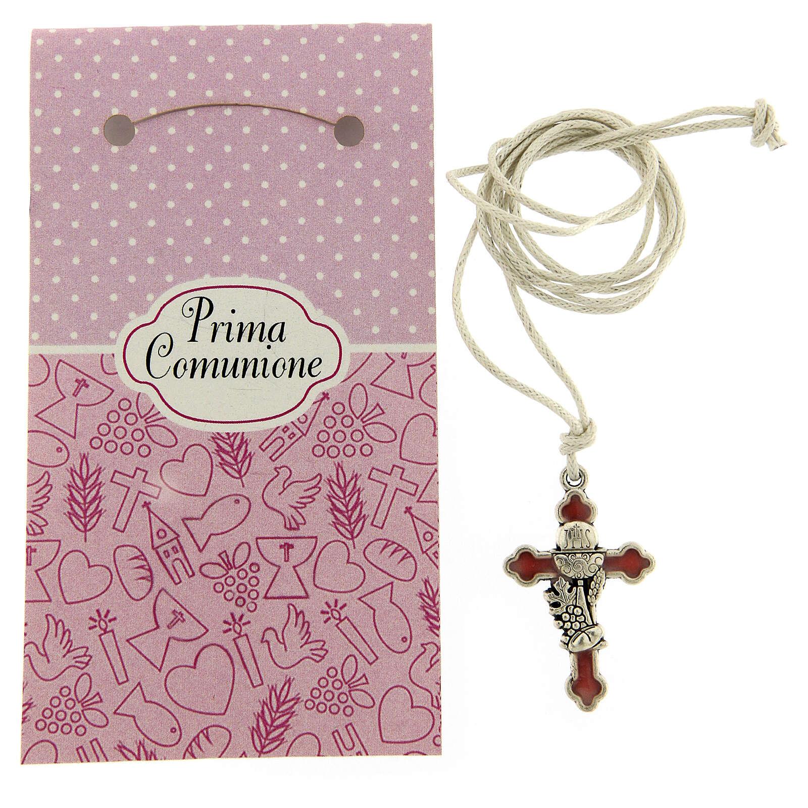 Communion pink nail polish pendant 3