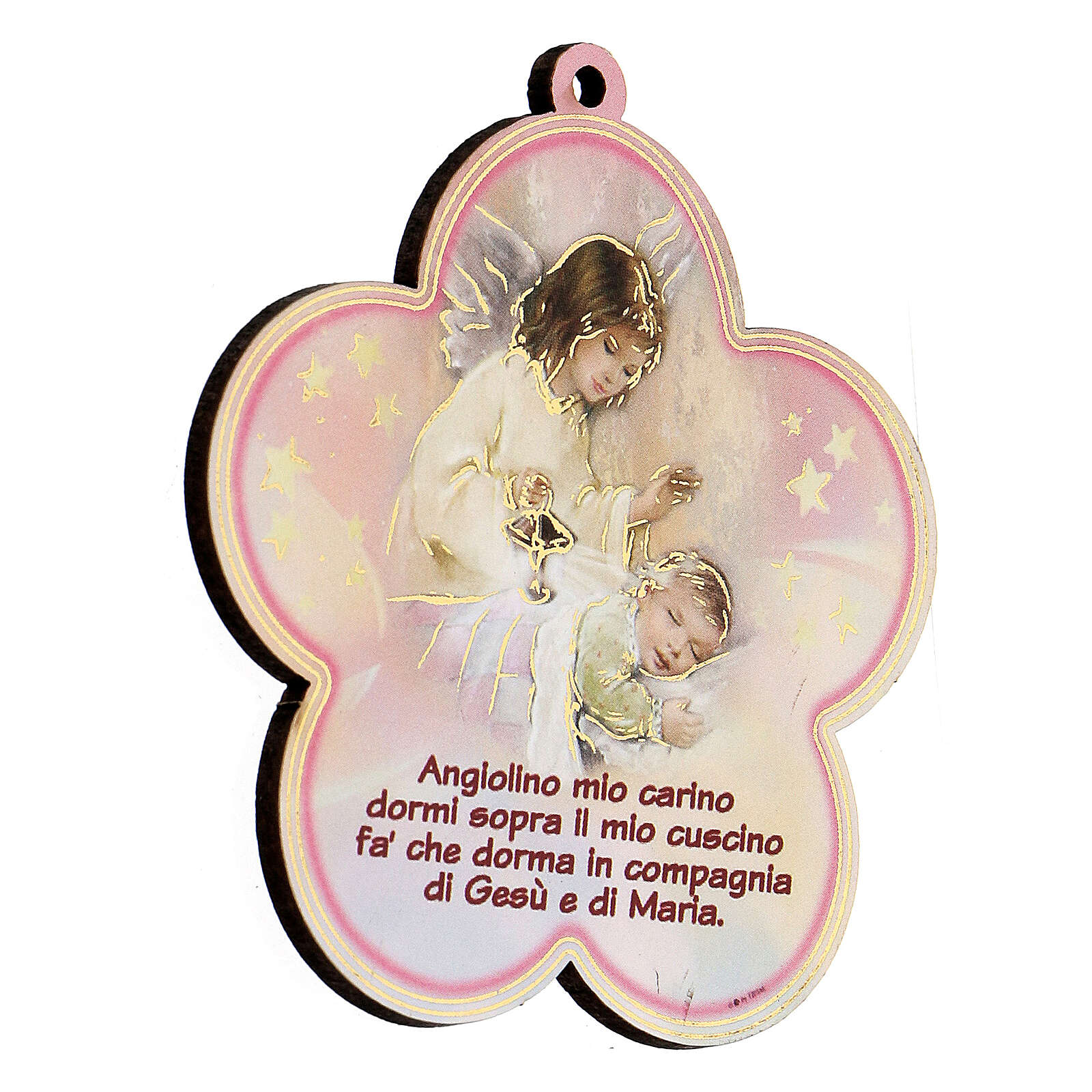 Quadretto fiore Angelo Custode preghiera 3