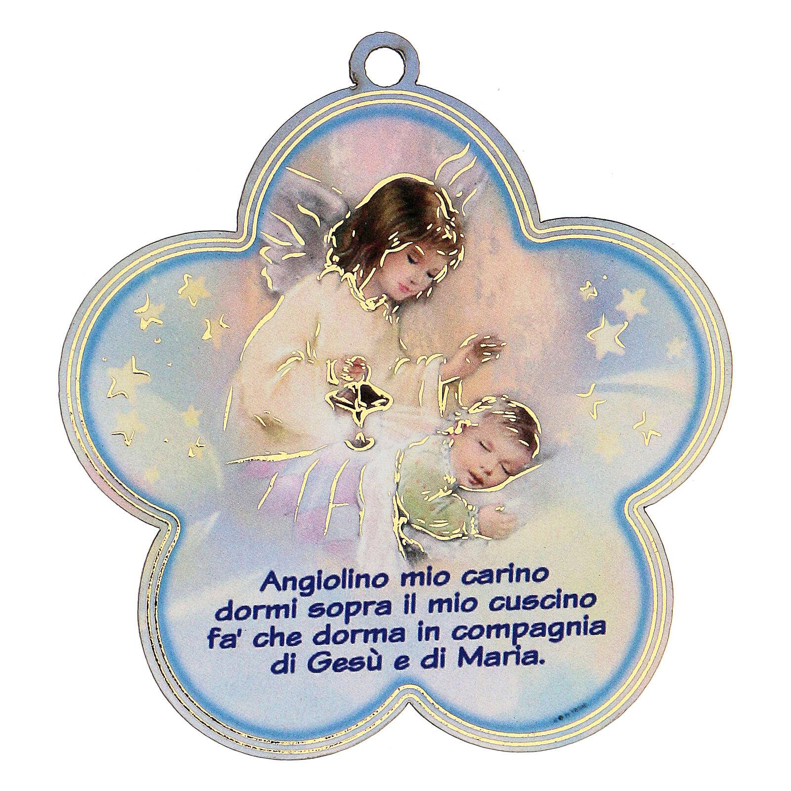 Flor azul oración Ángel de la Guarda 3