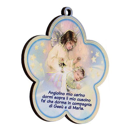 Flor azul oración Ángel de la Guarda 2