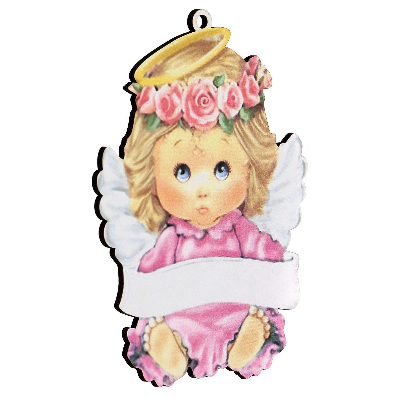 Ángel rosa 15 cm niña 3
