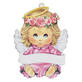 Ángel rosa 15 cm niña s1