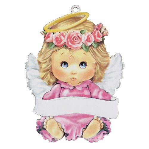 Ángel rosa 15 cm niña 1
