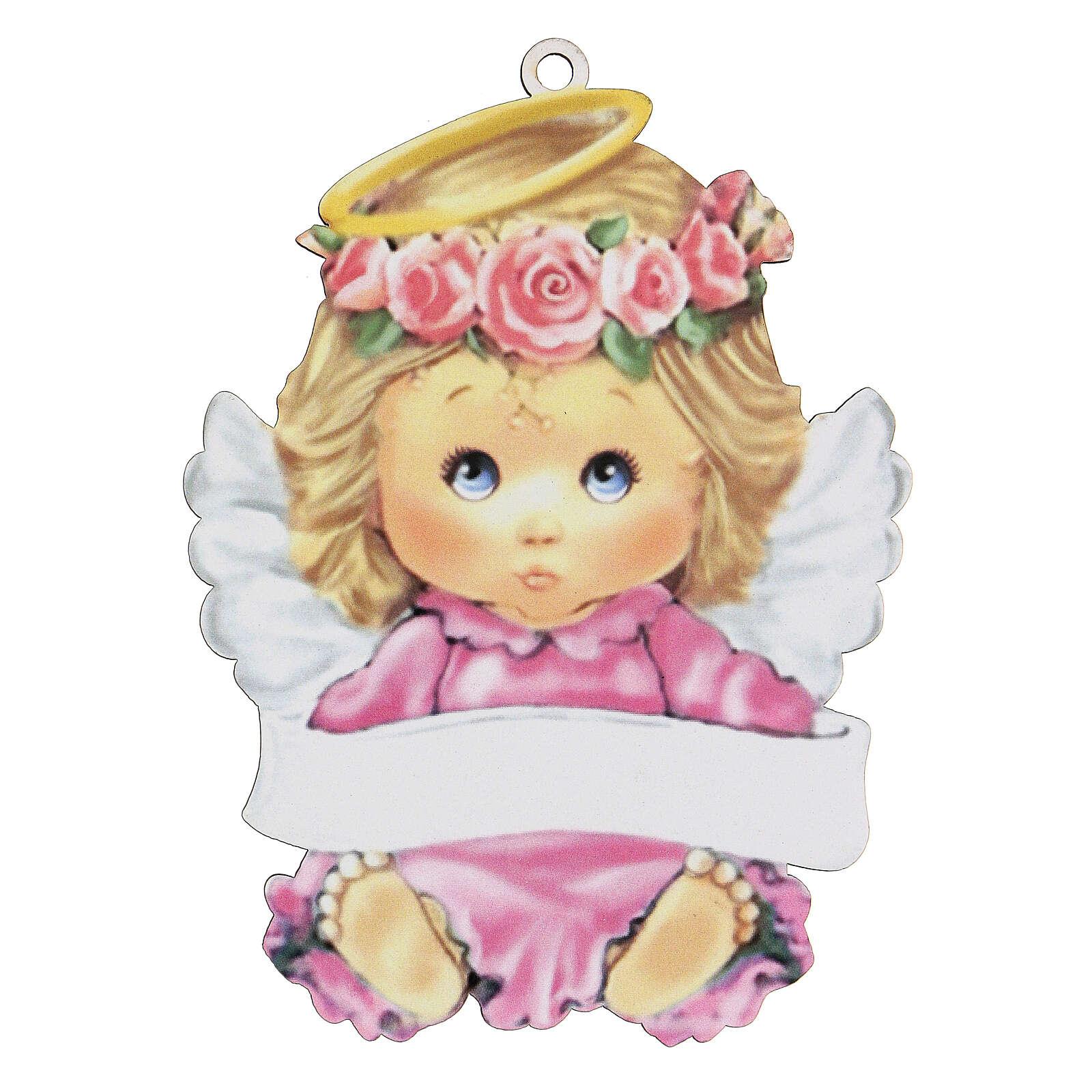 Angelo rosa 15 cm bimba 3