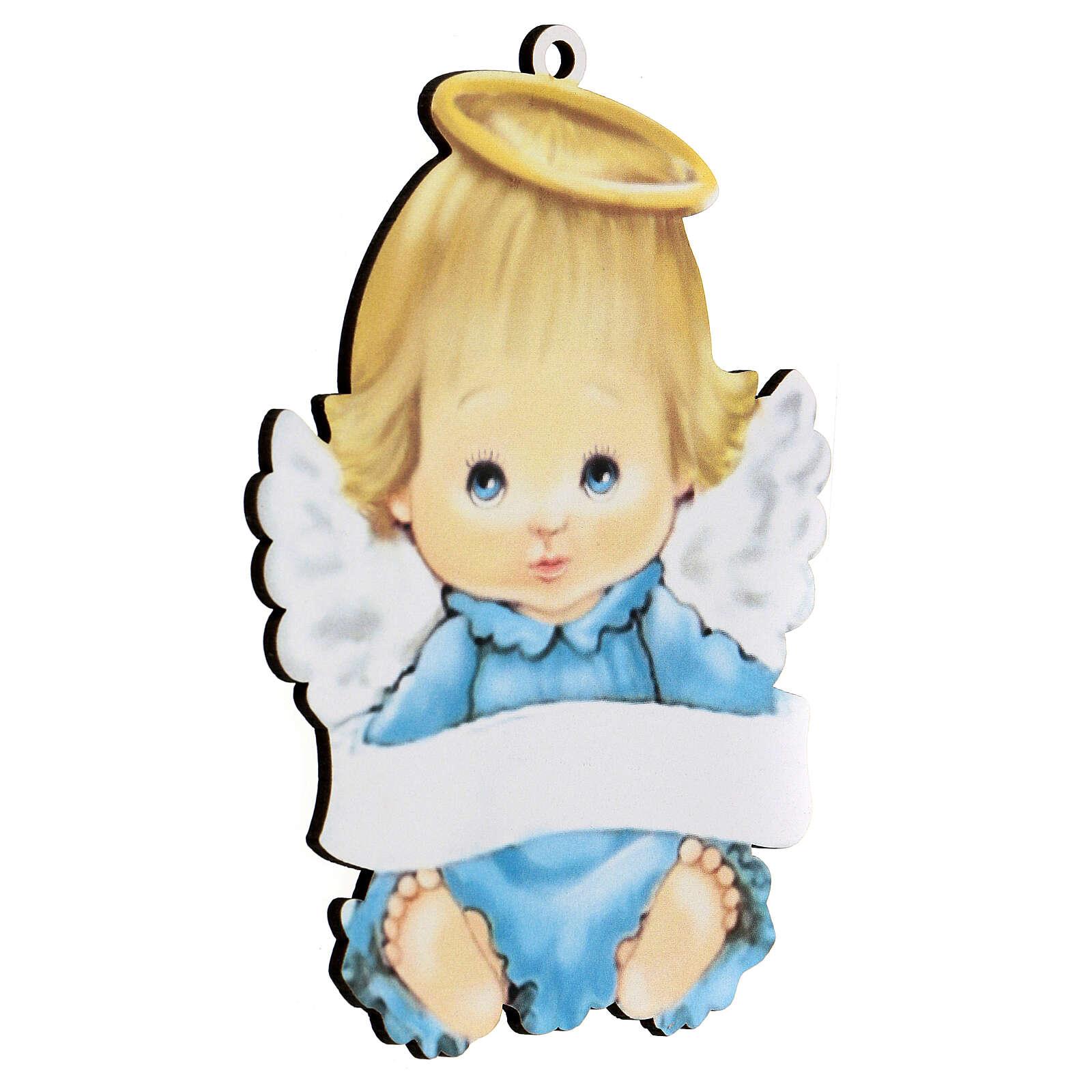 Cuadrito Ángel niño 15 cm 3