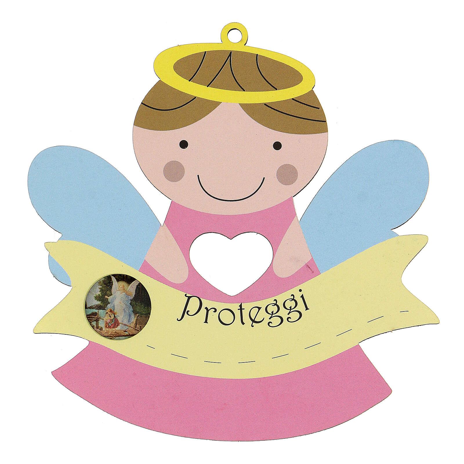 Angelito Protector madera niña 3