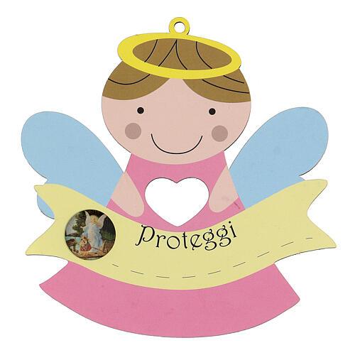 Angelito Protector madera niña 1