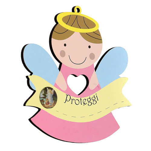 Ange Protège-moi bois fille 2