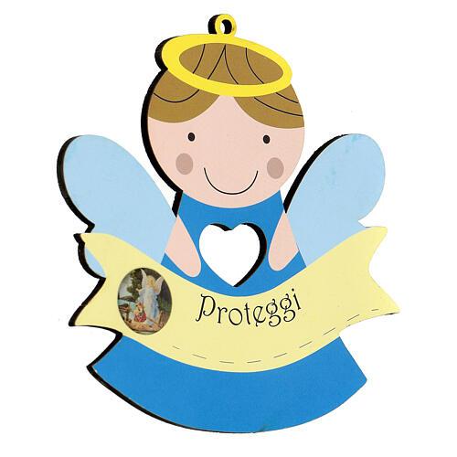 Souvenir naissance enfant Ange Protège-moi 2