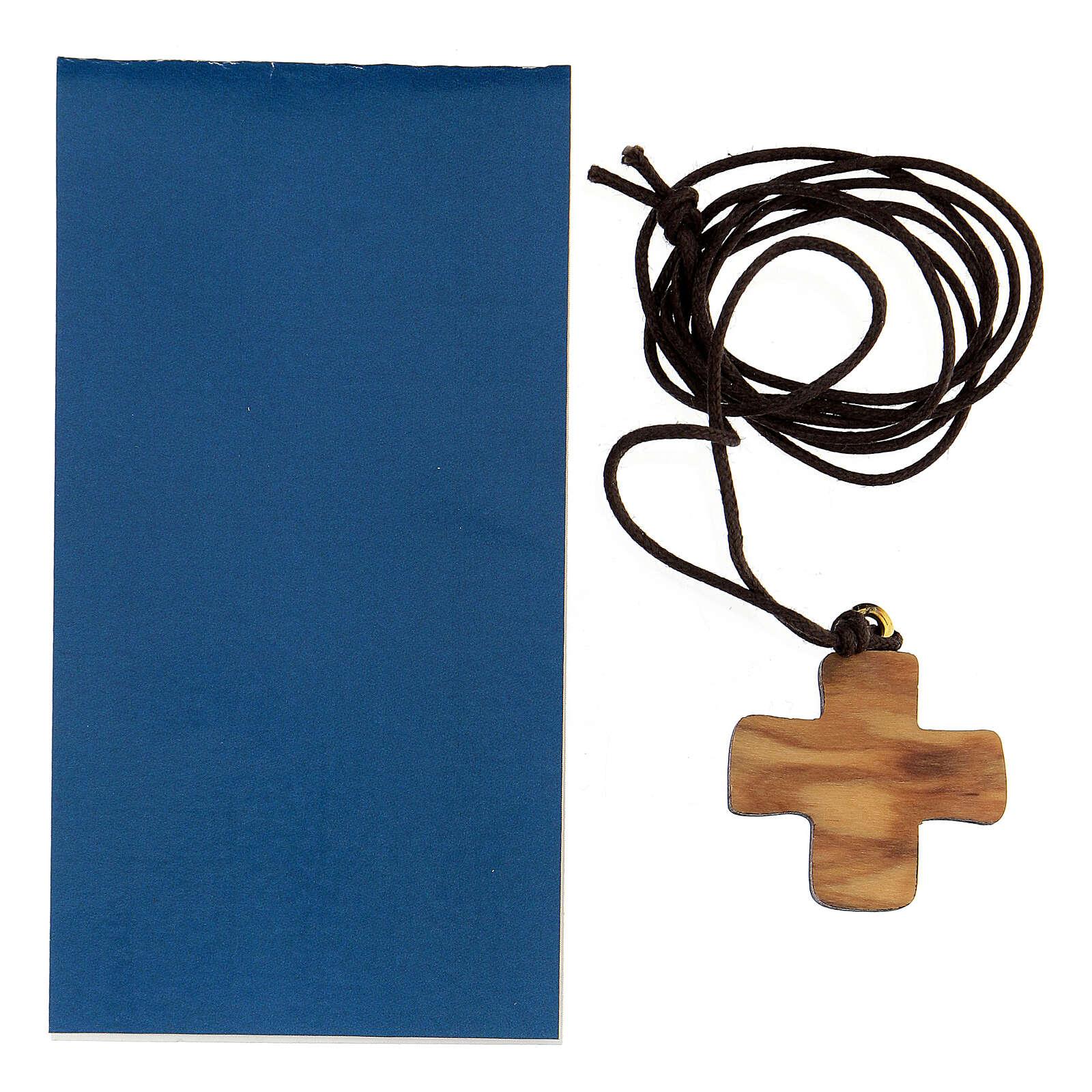 Croix Vierge à l'Enfant bois d'olivier 3