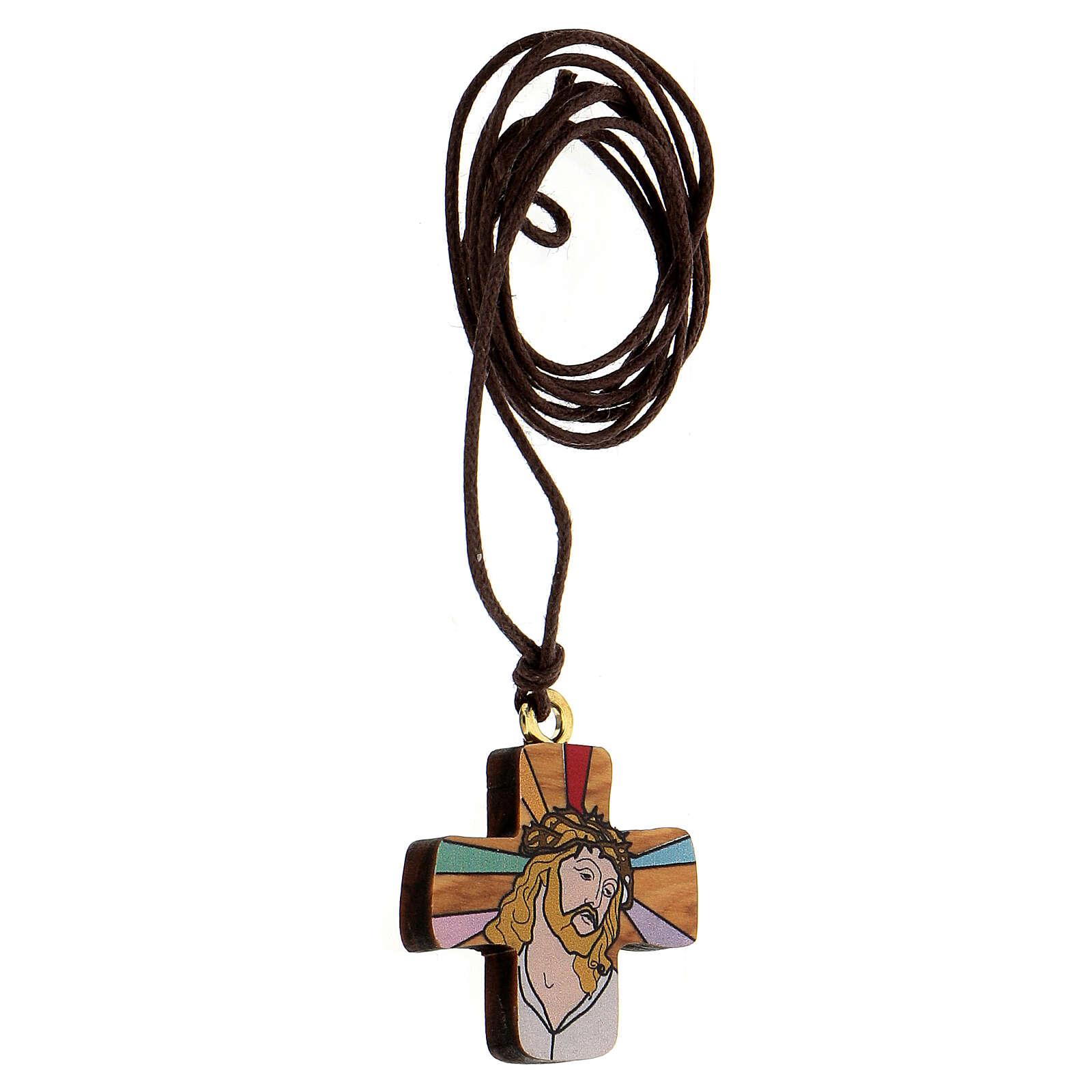 Croix Jésus imprimé sur olivier 3
