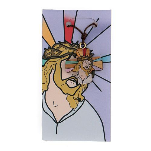 Croix Jésus imprimé sur olivier 1