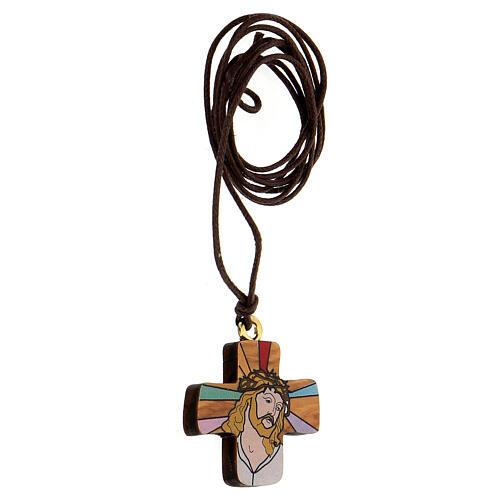 Croix Jésus imprimé sur olivier 2