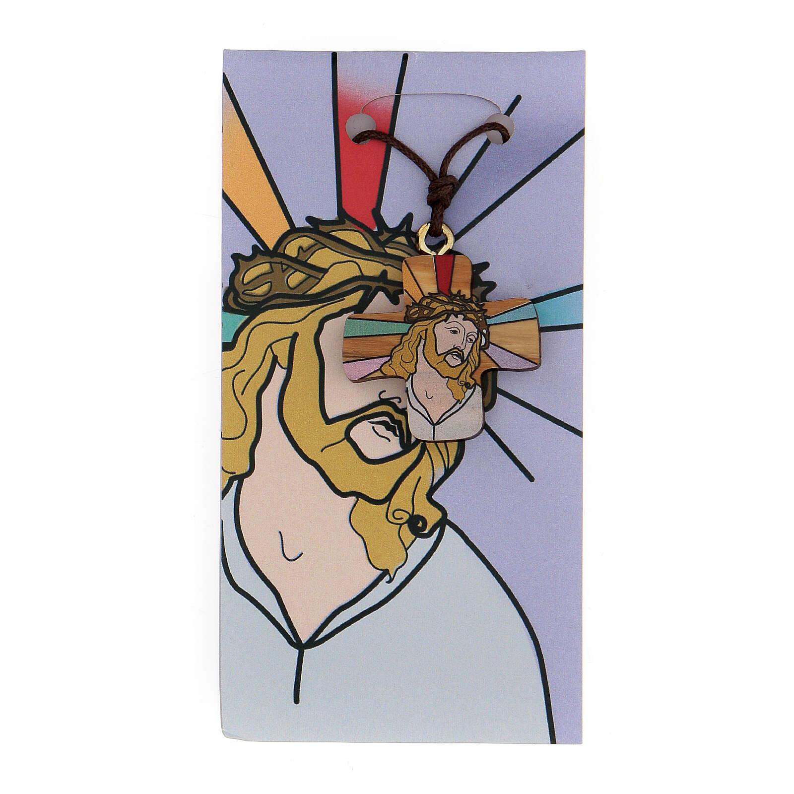 Croce Gesù stampato su ulivo 3