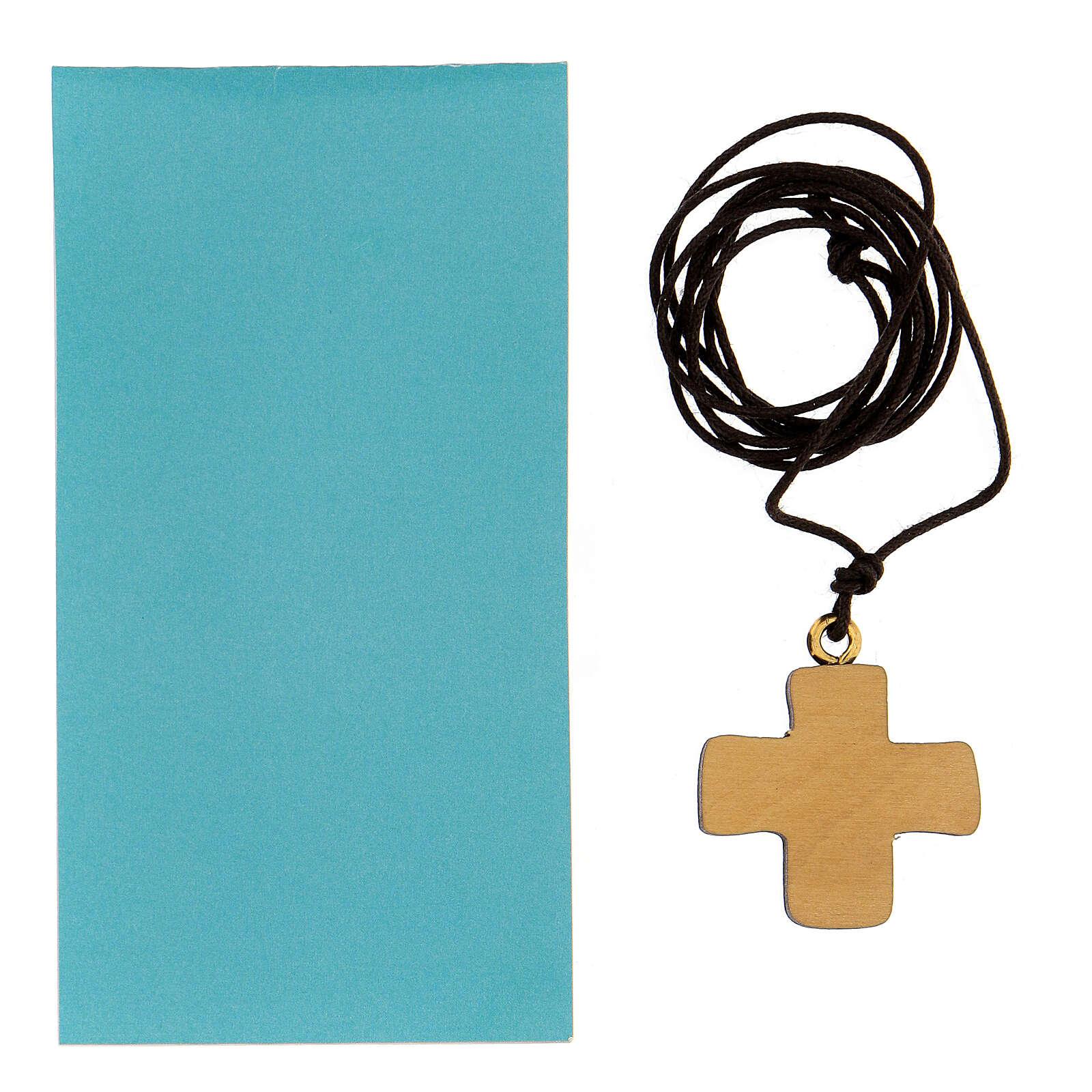 Croce stampa colomba in legno 3