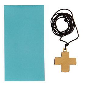Croce stampa colomba in legno s3