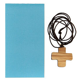 Croce Battesimo legno d'ulivo s3
