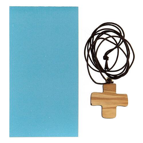 Croce Battesimo legno d'ulivo 3