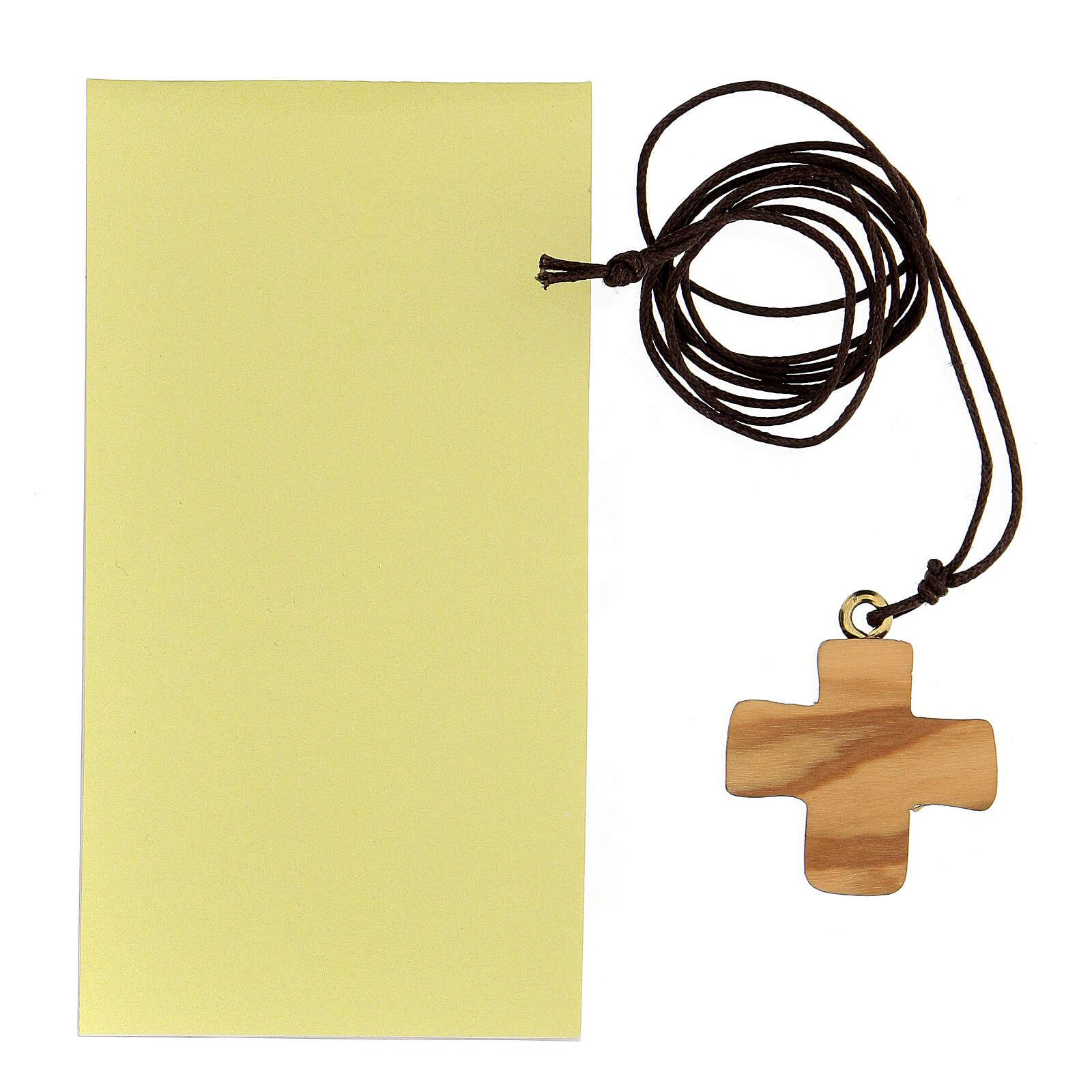 Cruz impresa Comunión olivo 3