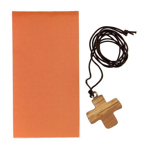 Cruz Confirmación impresa madera de olivo 3