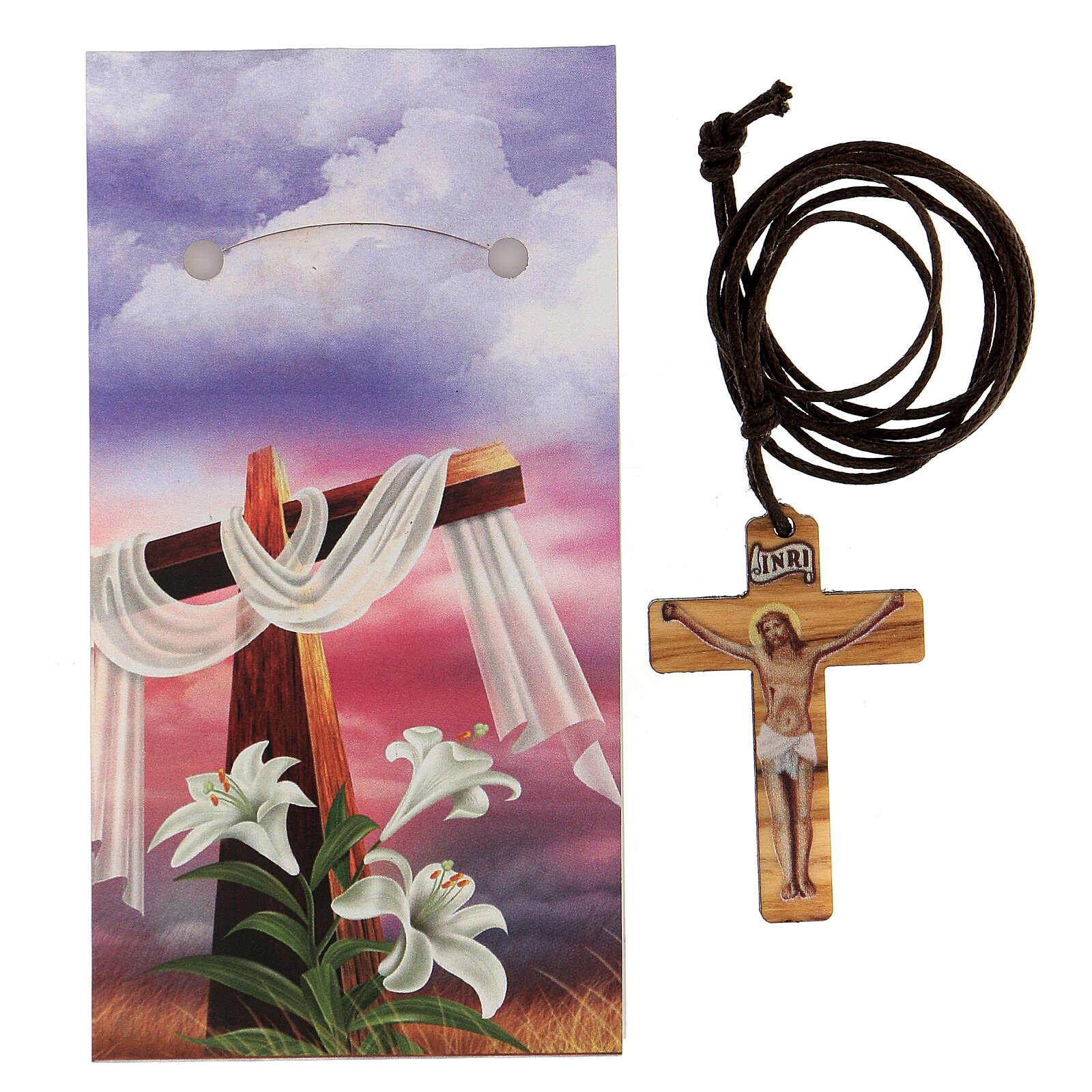 Colgante cruz impresa Jesús 3