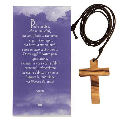 Colgante cruz impresa Jesús 4