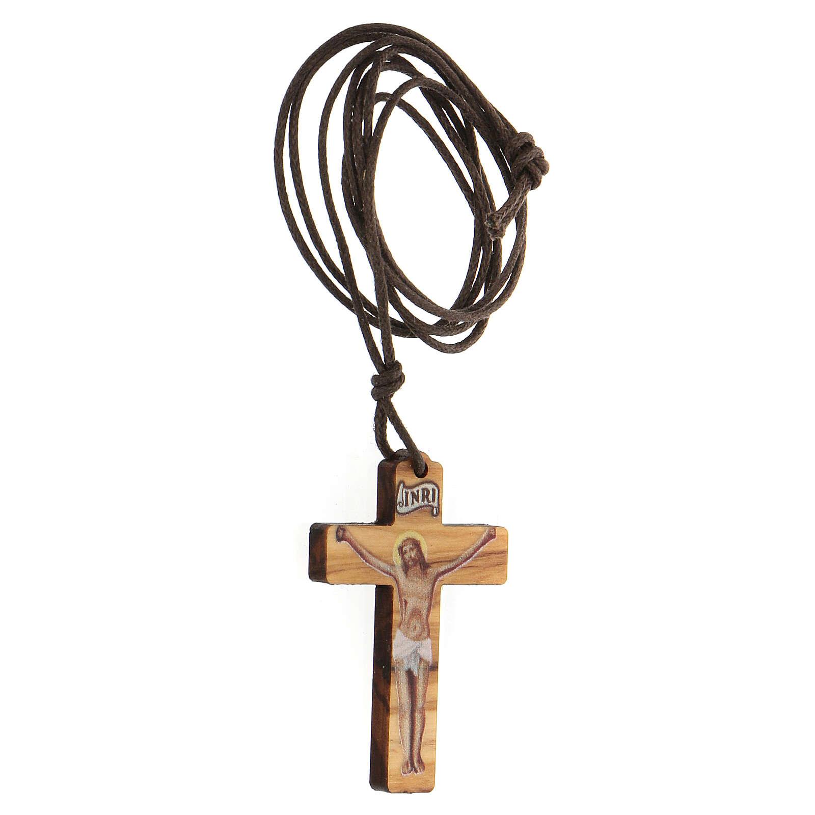 Ciondolo croce stampa Gesù 3