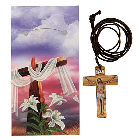 Ciondolo croce stampa Gesù s3