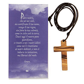 Ciondolo croce stampa Gesù s4