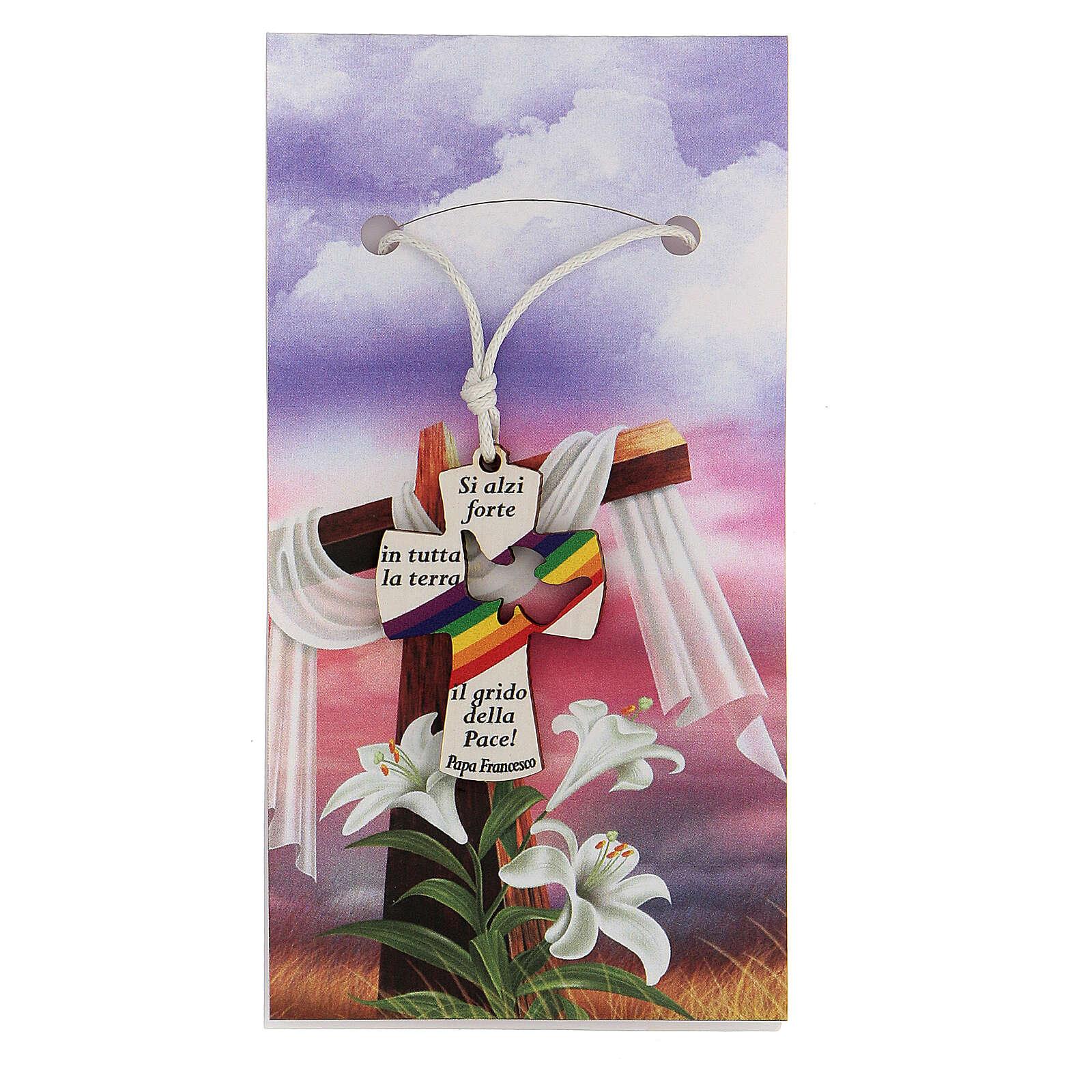 Ciondolo croce preghiera Papa Francesco 3