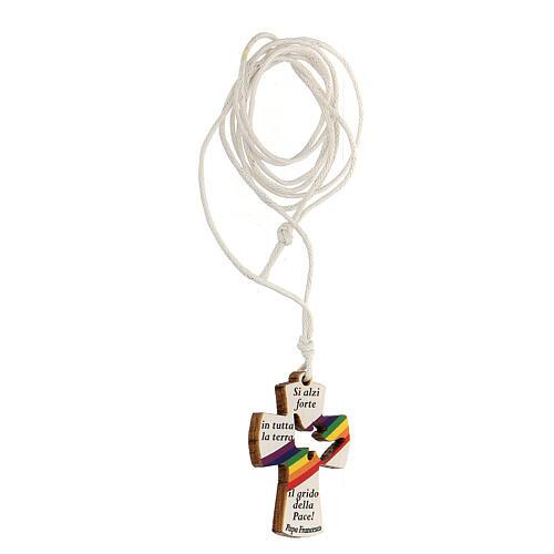 Ciondolo croce preghiera Papa Francesco 2