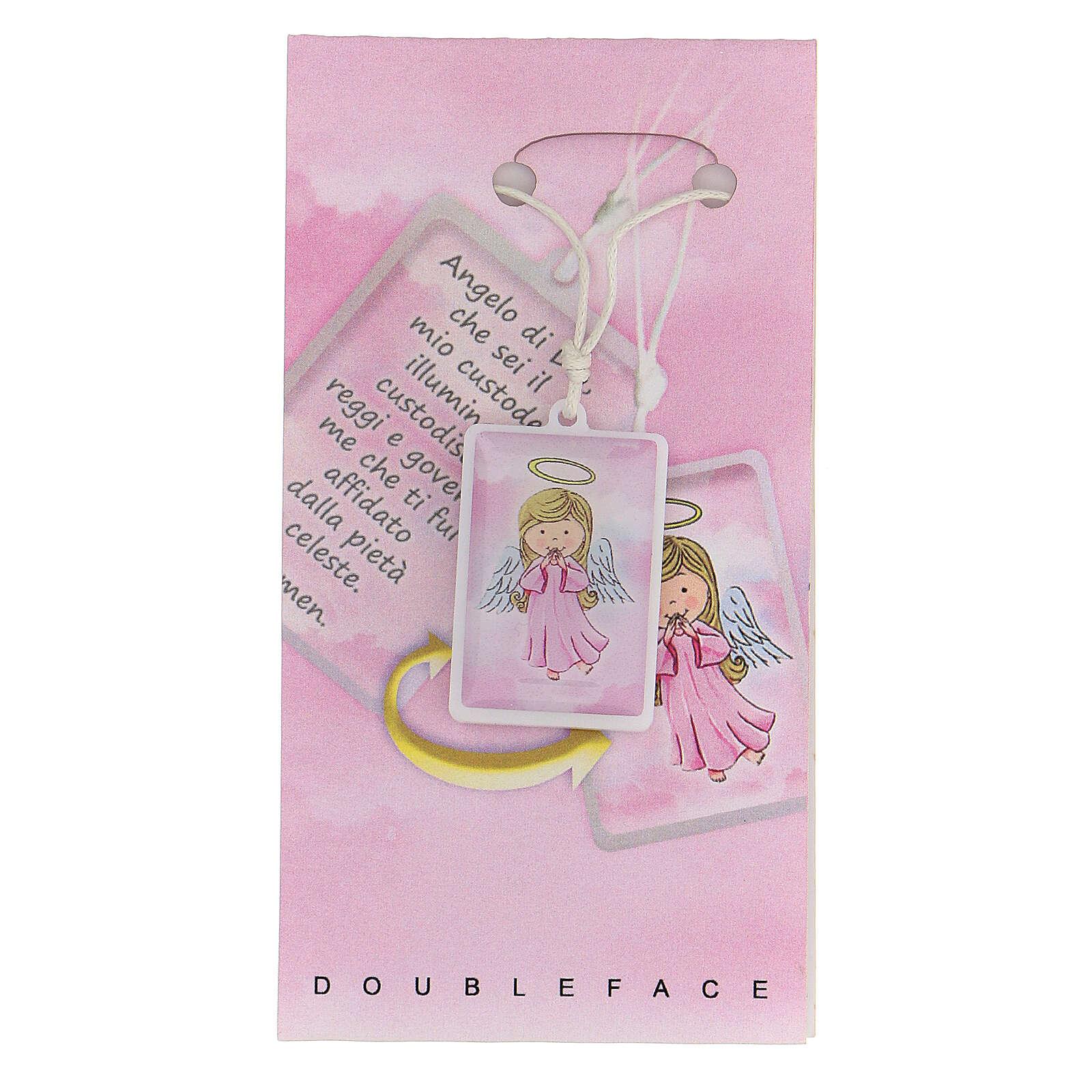 Colgante Ángel de Dios rosa 3