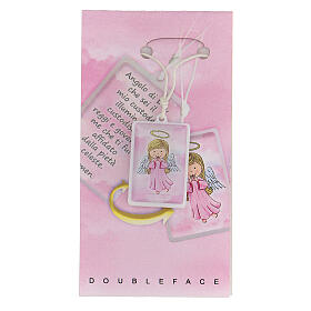 Pendentif Ange de Dieu rose s1