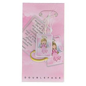 Ciondolo Angelo di Dio rosa s1