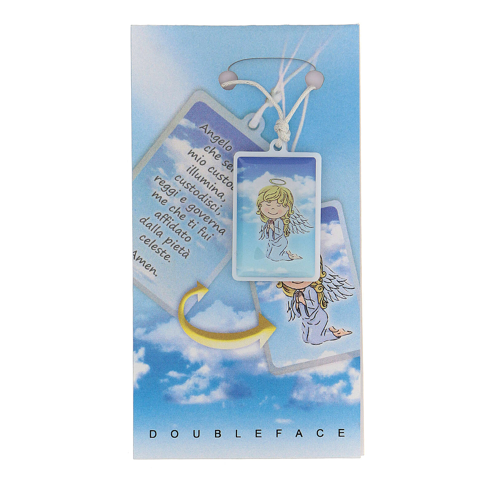 Pendentif Ange de Dieu bleu clair 3