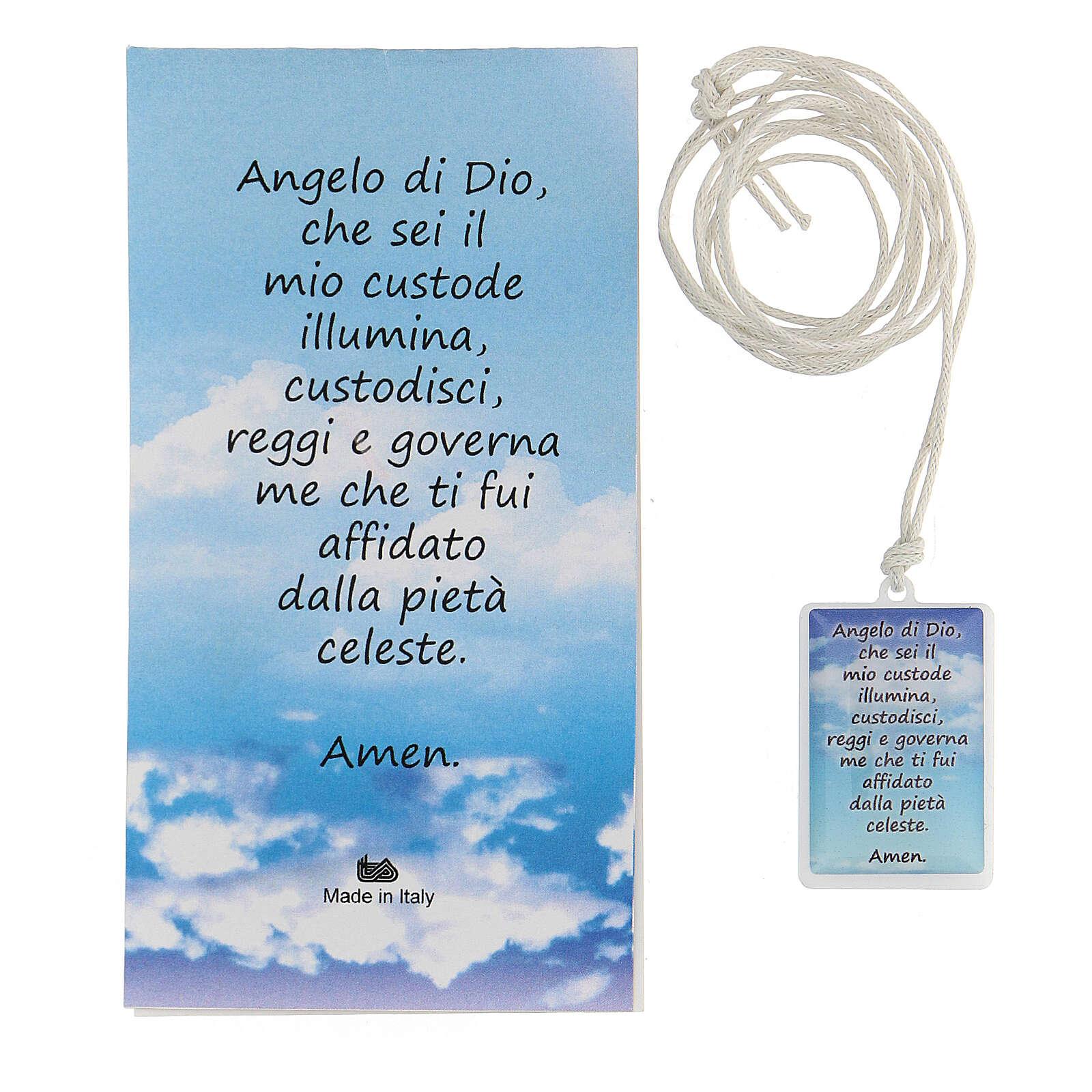 Ciondolo azzurro Angelo di Dio 3