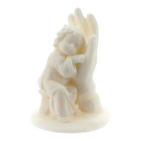 Angelito en mano resina blanca para niño s1