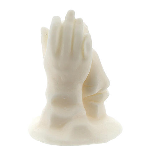 Angelito en mano resina blanca para niño 4