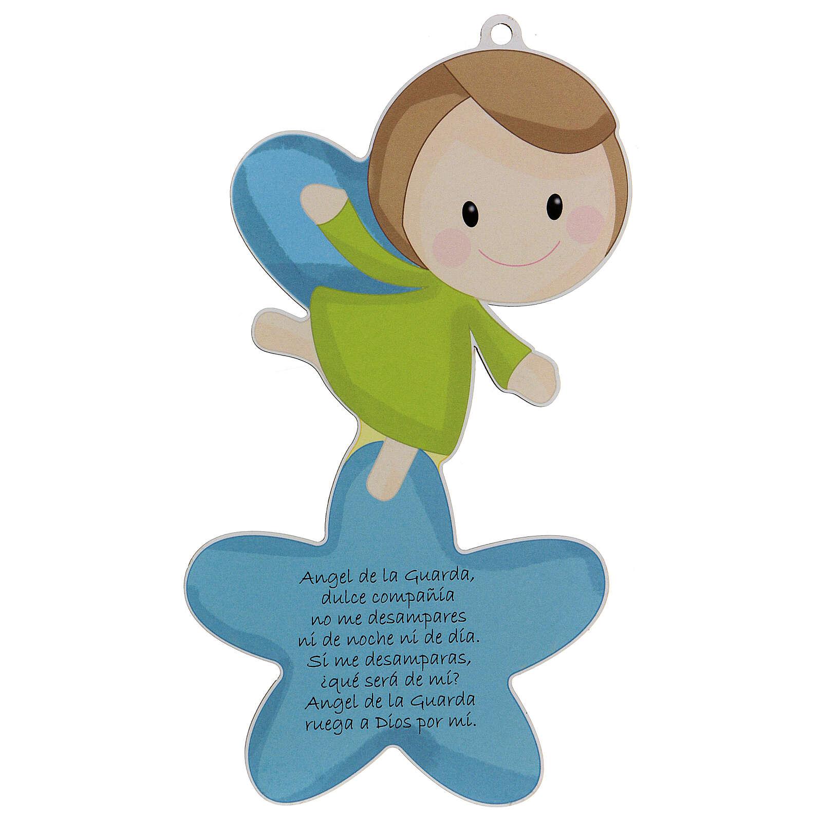Cadre Ange et étoile bleu prière ESPAGNOL 3