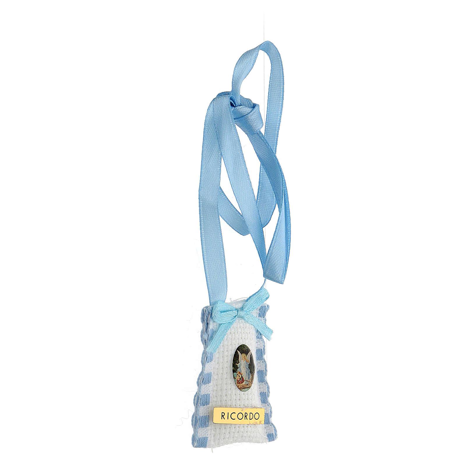 Ange et enfant cocarde bleue claire berceau 4
