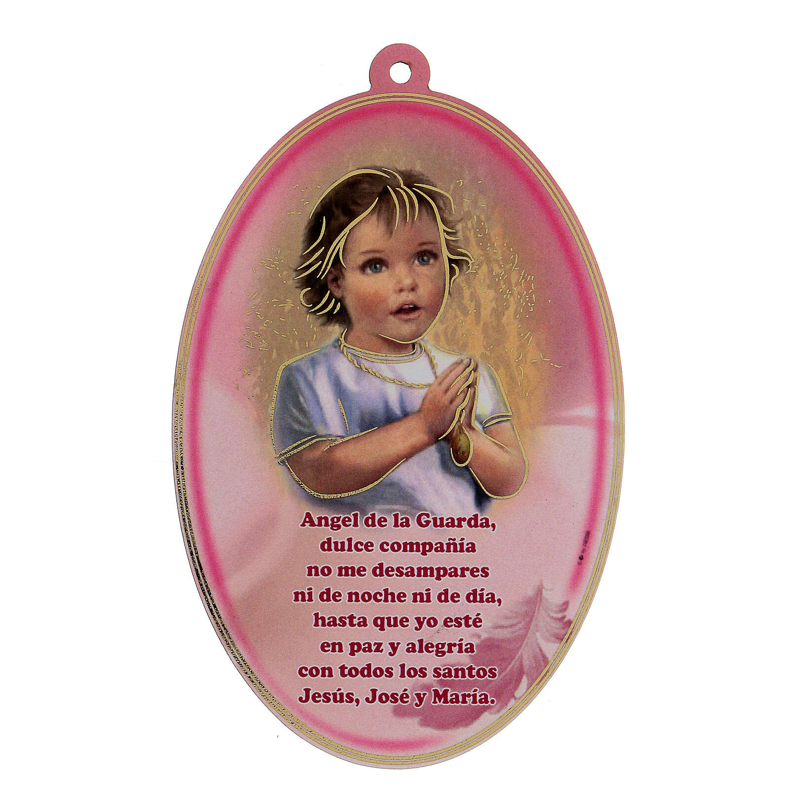 Icône ovale rose prière ESPAGNOL 3