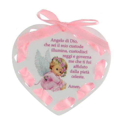Coeur ruban rose prière 1